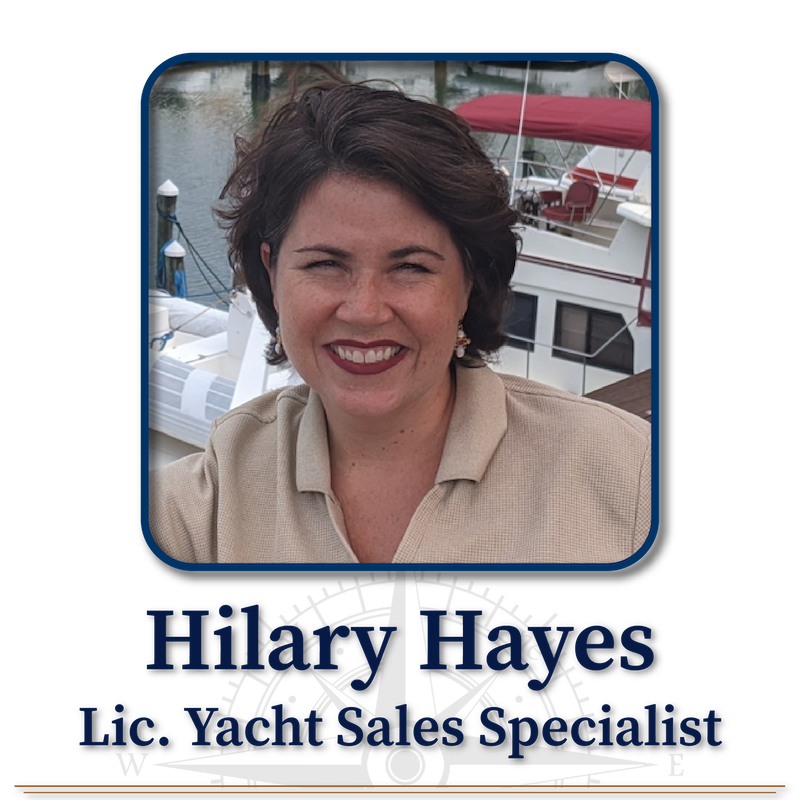 Hilary Hayes, Licensed Yacht Sales Specialist